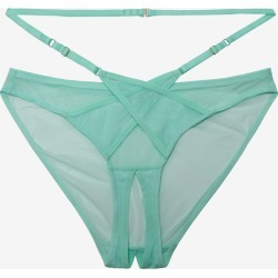 Playful Promises Eddie Crossover Wrap Crotchless Brazilian Brief Aqua found on MODAPINS from Brastop Ltd for USD $28.20