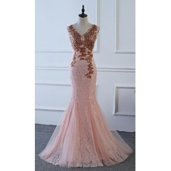 Costbuys  V Neck Long Sequin Evening Dress Pink V Neck Evening Gowns Prom Party Formal Evening Gowns Dresses - Pink / 28W found on Bargain Bro India from cost buys for $393.99