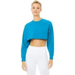 Alo Yoga Double Take Pullover - Atomic Blue - Size L - Performance Fabric