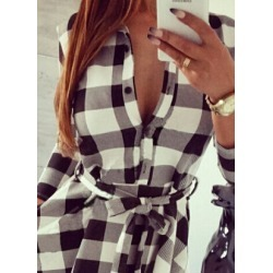 e9f43517aa0 Costbuys Vintage Dresses Autumn Fall Women Plaid Checkcost buys