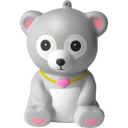 Costbuys Toys Squeeze Squishes Toy Squishies Adorable Bear Slow Rising Cream Squeeze Scented Stress Relief Toys - Gray / China