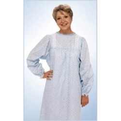Patient Exam Gown TieBack One Size Fits Most Blue Marble Print Adult NonSterile - 1 Each by Salk found on Bargain Bro from Herbspro for USD $13.47