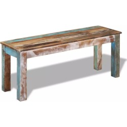 Bench Solid Reclaimed Wood 110 x 35 x 45 Cm