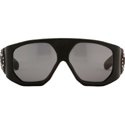 Jeremy Scott Leather Sunglasses in Black found on MODAPINS from Linda Farrow for USD $383.08