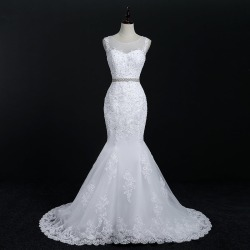 Costbuys  Lace Mermaid Wedding Dresses Bridal Gowns - pure white / 2 / 50cm found on Bargain Bro India from cost buys for $598.99