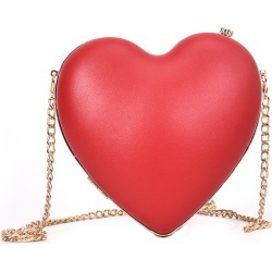 Costbuys  New Luxury Design Heart Shape Bags Women Fashion Small Chain Crossbody Bags Fashion Evening Bag Female Leather Handbag