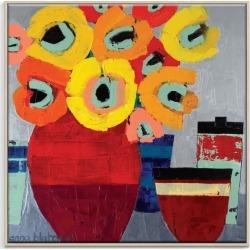 Hannah's Pots Framed Canvas Print
