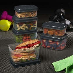 Jaxx FitPak Meal Prep Portion Control Replacement Containers (Replacements for FitPak)