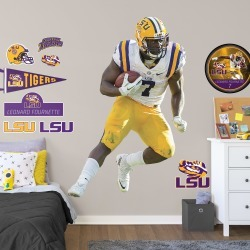 """Leonard Fournette for LSU Tigers: LSU - Officially Licensed Removable Wall Decal Life-Size Athlete + 10 Decals (48""""W x 73""""H) by"""