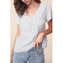 Athena Polka-Dot Blouse found on MODAPINS from Shoptiques for USD $37.00