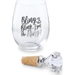 Ring Wine Glass found on Bargain Bro India from Shoptiques for $22.50