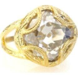 Swarovski Cushion Cut Adj. Ring found on Bargain Bro India from Shoptiques for $60.00
