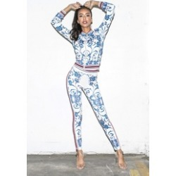 Paisley-Like Patterned Leggings found on Bargain Bro India from Shoptiques for $38.00