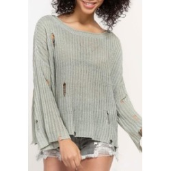 Distressed Knit Sweater found on Bargain Bro India from Shoptiques for $62.00