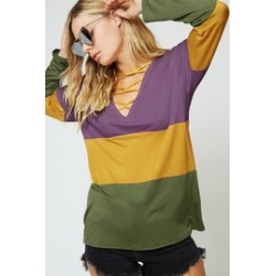 Cross Neck Colorblock Top found on Bargain Bro Philippines from Shoptiques for $38.00