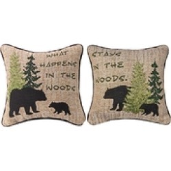 Woodland Advice Pillow found on Bargain Bro from Shoptiques for USD $21.28