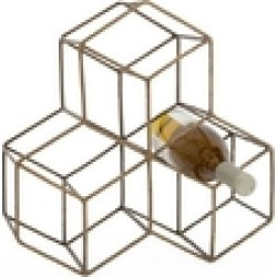 Brass Hexagon Wine-Rack found on Bargain Bro from Shoptiques for USD $87.40