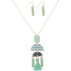 Mint Geometric Necklace-Set found on Bargain Bro India from Shoptiques for $28.00