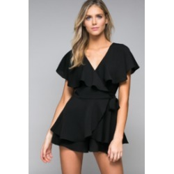 Wrap Front Ruffle Romper found on Bargain Bro India from Shoptiques for $69.00