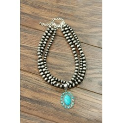 Natural Turquoise Necklace found on Bargain Bro from Shoptiques for USD $47.12