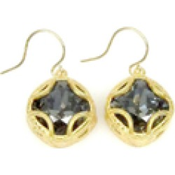 Swarovski Cushion Cut Drop Earrings found on Bargain Bro India from Shoptiques for $70.00