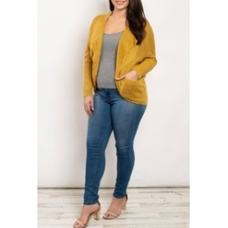 Mustard Tunic Cardigan found on MODAPINS from Shoptiques for USD $29.00