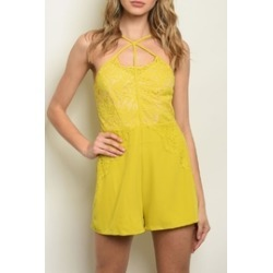 Mustard Lace Romper found on MODAPINS from Shoptiques for USD $25.00