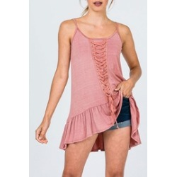 Lace Detail Tunic-Top found on Bargain Bro India from Shoptiques for $39.00