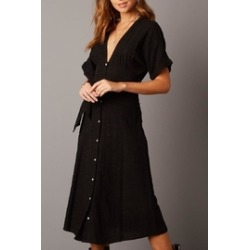 Plunging Dolman-Sleeve Midi-Dress found on Bargain Bro India from Shoptiques for $72.00
