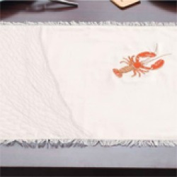 Embroidered Lobster Placemats