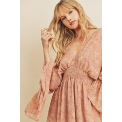 Muted Paisley Butterfly Mini Dress found on Bargain Bro from Shoptiques for USD $37.99
