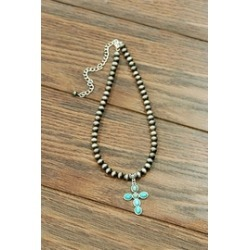Natural Turquoise Pendant-Necklace found on Bargain Bro from Shoptiques for USD $19.76