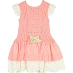 Polkadots & Lace Baby Dress