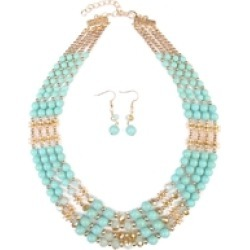 Turquoise Necklace Earrings Set