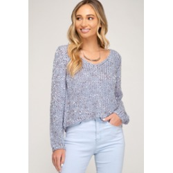 Cropped Mix Yarn Sweater found on Bargain Bro Philippines from Shoptiques for $52.00