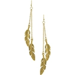 Gold Leaf Earrings found on Bargain Bro from Shoptiques for USD $14.44