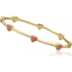 Gold Dainty Hearts Bangle