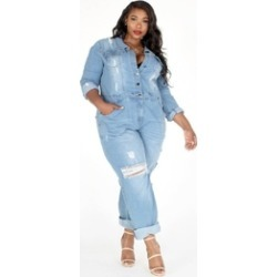 Denim Posh-Plus Jumpsuit found on MODAPINS from Shoptiques for USD $125.00