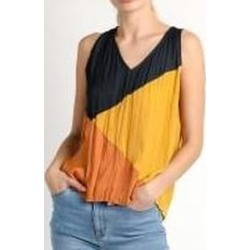 Crinkle Color Block Tank Blouse found on Bargain Bro Philippines from Shoptiques for $52.00