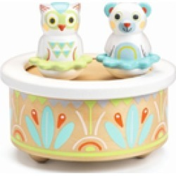 White Baby Music Box