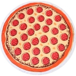 Pepperoni-Pizza-Print Beach Towel found on Bargain Bro India from Shoptiques for $19.99