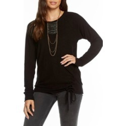 Love Knit Lace up Raglan Pullover