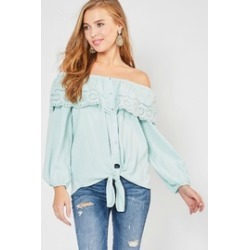 Lace-Overlay Ots Top found on Bargain Bro Philippines from Shoptiques for $22.00
