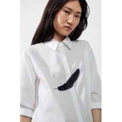 Embroidered Feather Shirt