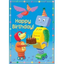 Robot Happy Birthday Card found on Bargain Bro India from Shoptiques for $2.95