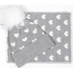 Heart Print Beanie/scarf found on Bargain Bro India from Shoptiques for $38.99
