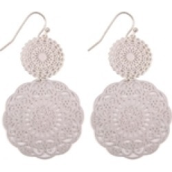 Round-Filigree Statement Earrings found on Bargain Bro from Shoptiques for USD $6.08