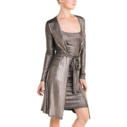 Metallic Dress With-Cardigan found on Bargain Bro India from Shoptiques for $33.99