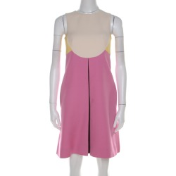 Valentino Colorblock Silk Wool Sleeveless A Line Dress S found on MODAPINS from The Luxury Closet for USD $2505.00