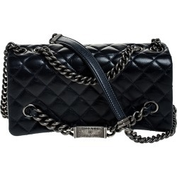 Chanel Navy Blue Quilted Crinkled Leather 31 RUE CAMBON Shoulder Bag found on Bargain Bro India from The Luxury Closet for $2241.91